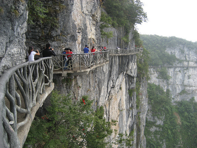 by fossey posse on Flickr.The cliff path on Tianmen Mountain National Park - Zhangjiajie, China.