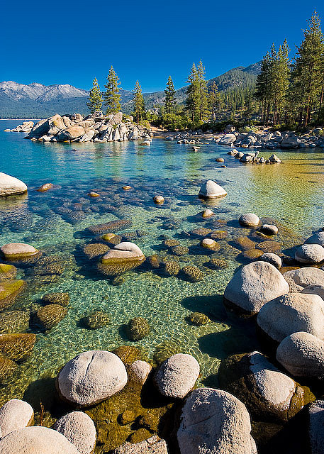 Beautiful Sand Harbor on Lake Tahoe, Nevada, USA