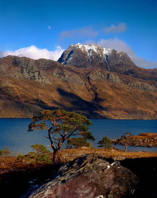 Slioch mountain and Loch Maree, Highlands, Scotland