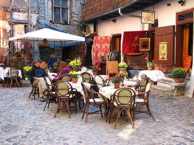 Chocolaterie & Cafe du Pierre in Tallinn's old town, Estonia