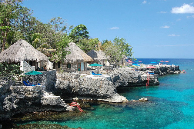 Private villas at Rockhouse Hotel in Negril, Jamaica