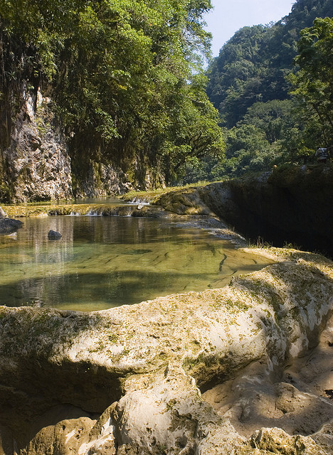 Natural pools in Semuc Champey Valley, Alta Verapaz, Guatemala