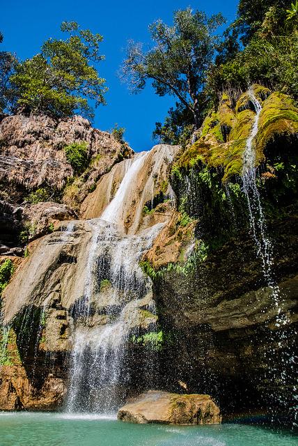 Waterfalls on Tsiribihina River in northwestern Madagascar