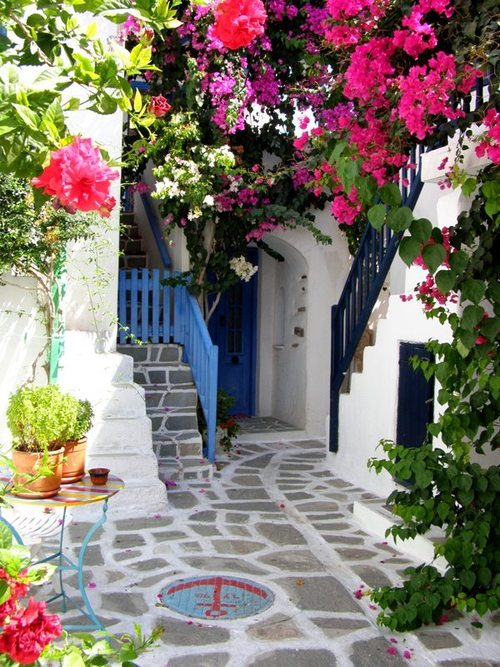 Courtyard, Parros Island, Greece