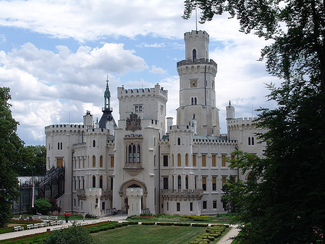 Hluboka Castle - South Bohemia, Czech Republic. In 1940, the castle was seized from the last owner, Adolph Schwarzenberg by the Gestapo and confiscated by the government...