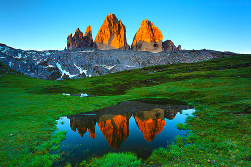 Reflections, The Dolomites, Italy