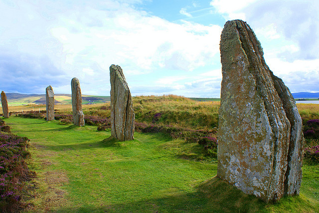 by little_frank on Flickr.The Ring of Brodgar is a Neolithic henge and stone circle on the Mainland, the largest island in Orkney, Scotland.