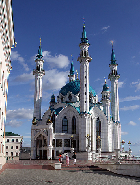 by Retlaw Snellac on Flickr.Qolsharif Mosque - Kazan, Russia.