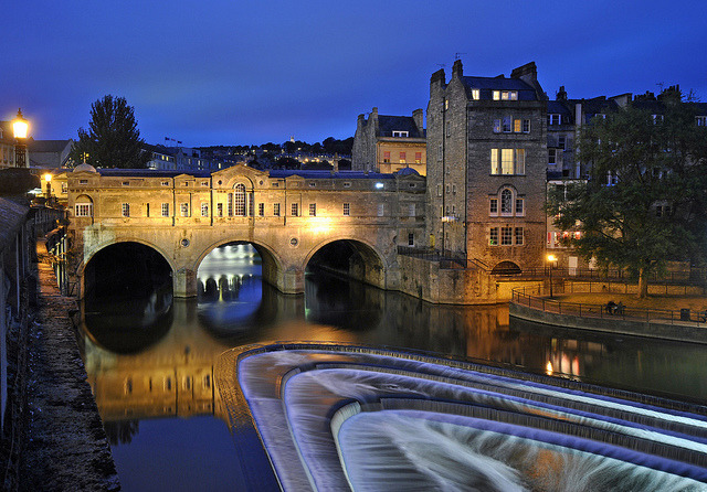 by Ricardodaforce on Flickr.Pulteney Bridge night view - city of Bath, England.