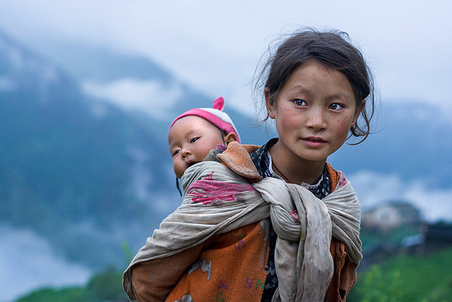 by mitchellk81 on Flickr.Children of the Mountains - Langtang region, Nepal.