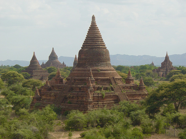 by doctor pedro on Flickr.Mingalazedi Pagoda is a Buddhist stupa located in Bagan, Myanmar.