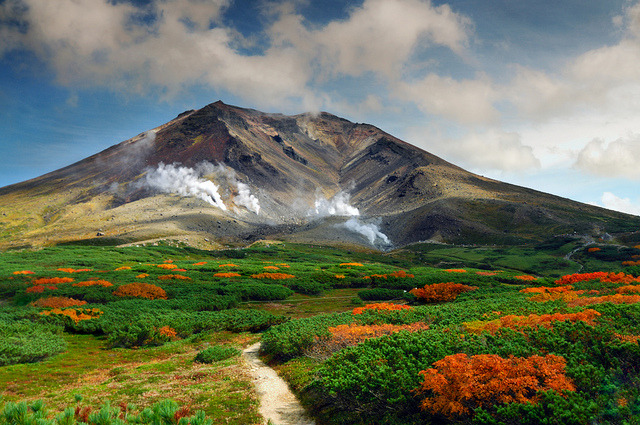 by Yagosan on Flickr.Asahi-dake volcano, the tallest mountain in Hokkaido, Japan.