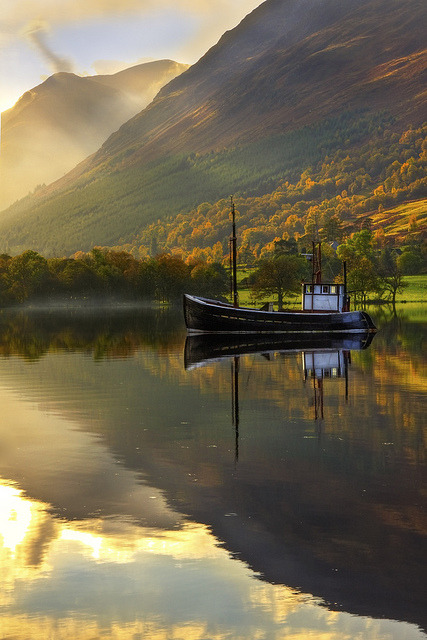Autumn Lake, West Highlands, Scotland