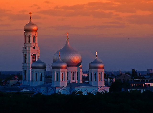 by redstarpictures on Flickr.Church of the Holy Trinity at sunrise in Odessa, Ukraine.