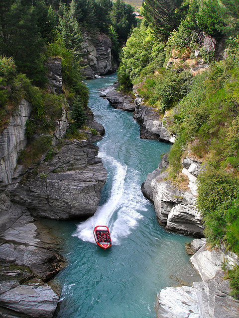 by Alex E. Proimos on Flickr.Jet Boating the Shotover River Canyons, Queenstown, New Zealand.