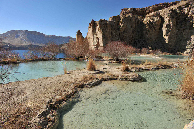 by christophe_cerisier on Flickr.The beautiful travertine pools of Band-e-Amir lakes in Afghanistan.