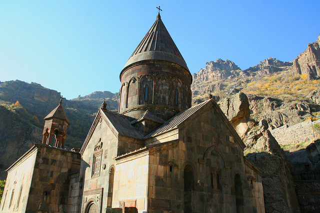 by Leoniedas on Flickr.Geghard monastery, a Unesco World Heritage Site in Armenia.