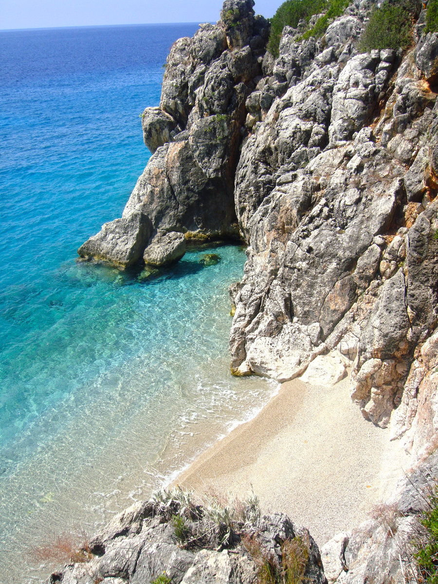 Beautiful beach near Jale, Albania