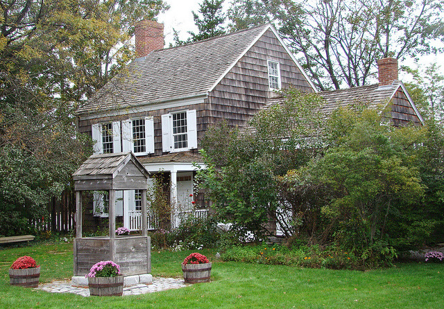 Walt Whitman Birthplace in West Hills, New York State - born today, 31 May 1819
