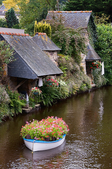 The Washhouses of Pontrieux in Brittany, France
