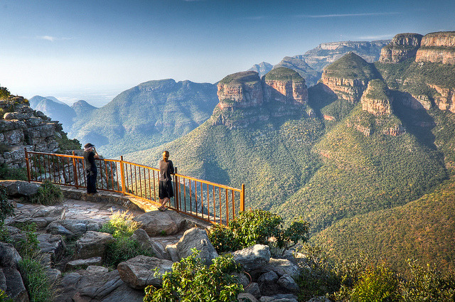 Three Rondavels View at Blyde River Canyon in South Africa