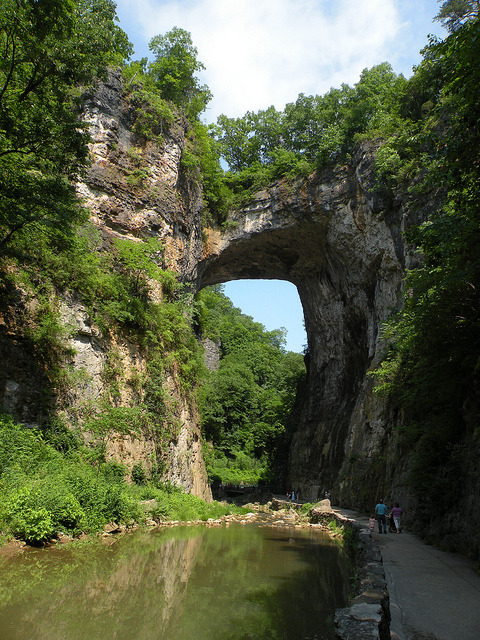 Natural Bridge in Rockbridge County, a national historic landmark in Virginia, USA