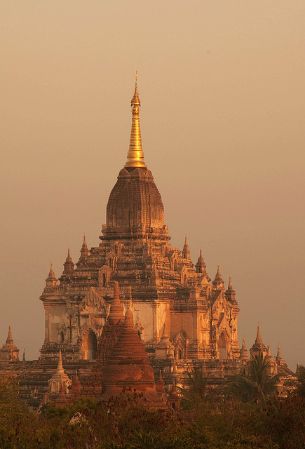 Gaw-Daw-Palin Pagoda view at sunrise in Bagan, Myanmar