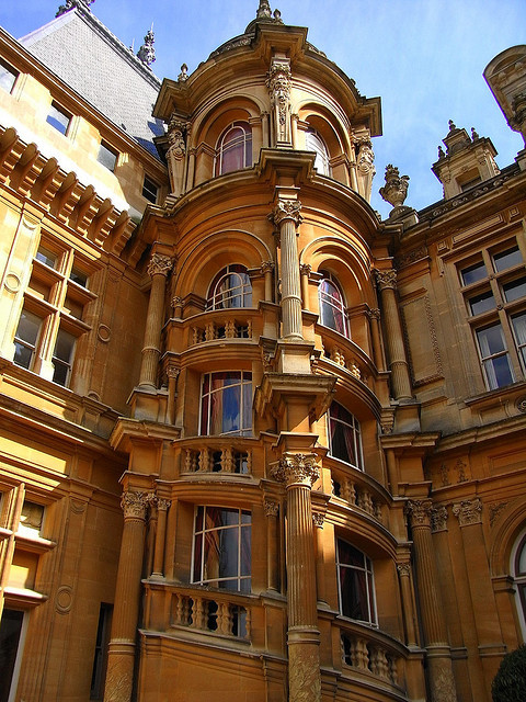 Architectural details at Waddesdon Manor, Buckinghamshire, England