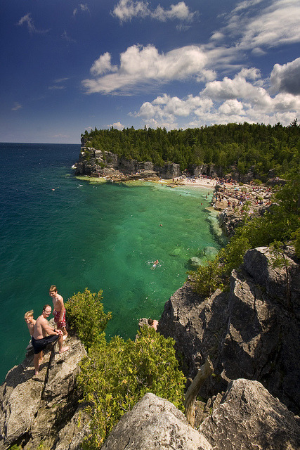 Indian Head Cove at Bruce Peninsula, Ontario, Canada
