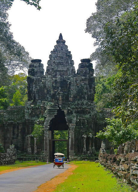 The gates of Angkor Thom, Cambodia