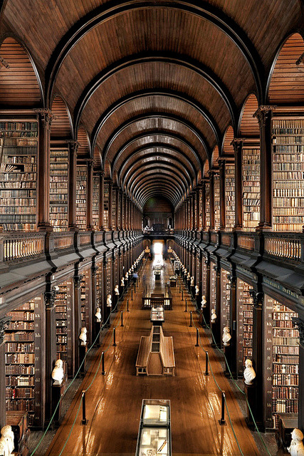 Trinity College Library at University of Dublin, Ireland