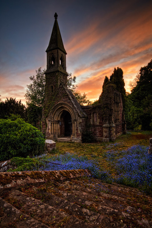Sunset, Overton, North Wales, England