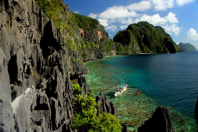 Limestone rocks at Matinloc Island in Palawan, Philippines