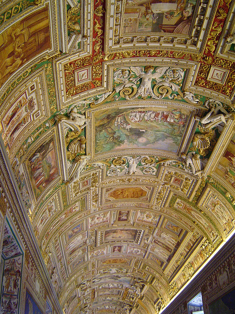 Beautiful ceiling inside the museum, Vatican City