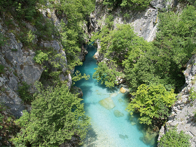 Valbona river gorge near Shoshan village in northern Albania
