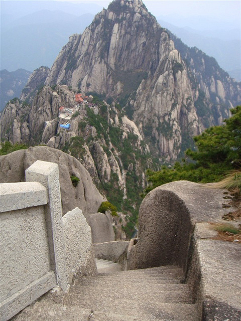 Rocky pathways of Huangshan Mountain, Anhui, China