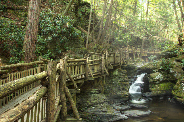 On the Way to Bushkill Falls in northeast Pennsylvania, USA