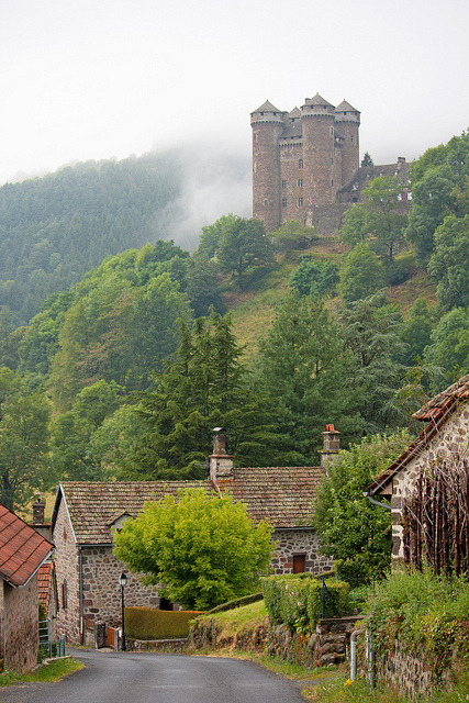 Mountain Side Castle, Auvergne, France