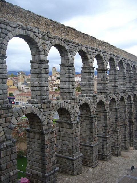 One of the most significant and best-preserved ancient monuments left on the Iberian Peninsula, The Aqueduct of Segovia, Spain