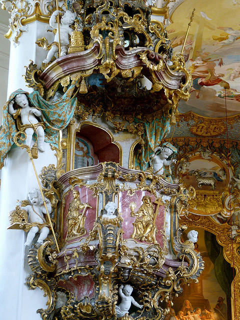 The splendor of Rococo architecture, Wies Church, Germany
