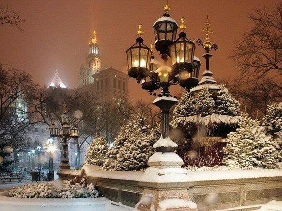Snowy Night, New York City