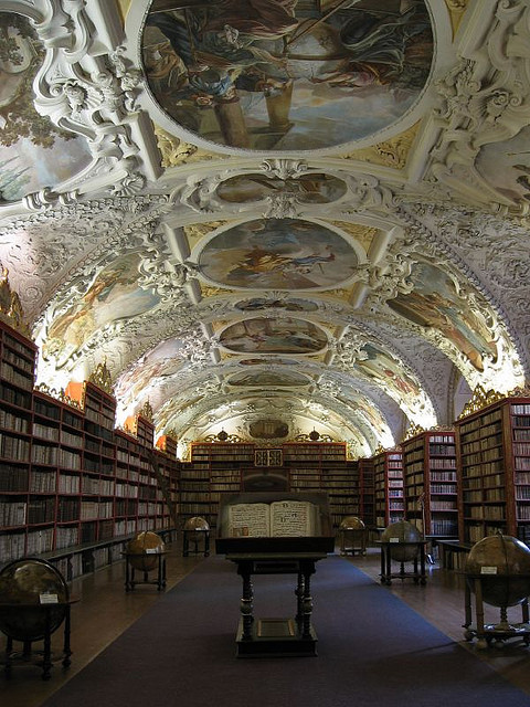 Strahov Monastery Library in Prague, Czech Republic