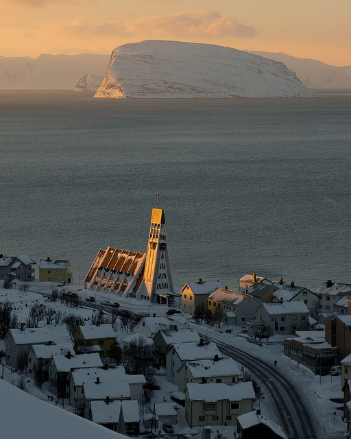 Hammerfest sundown, Finnmark, Norway