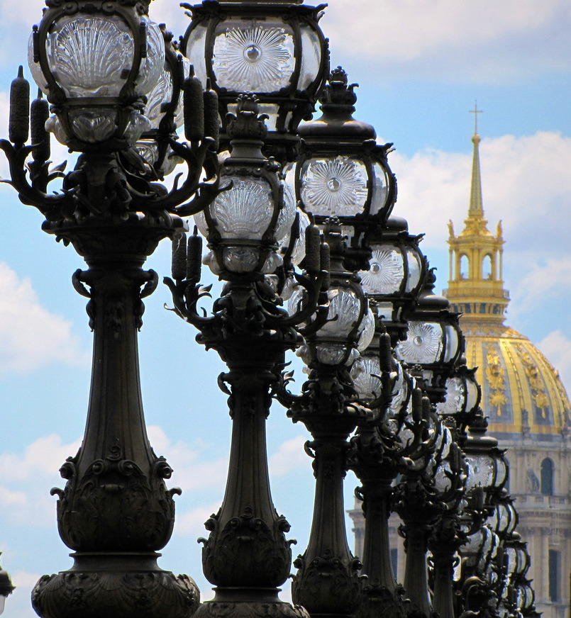 Lamp posts of the Belle Epoque, Paris, France