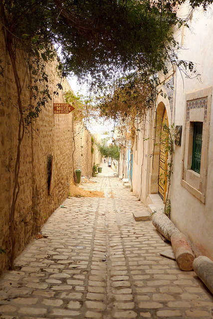 Street scene in the medina of Sousse, Tunisia