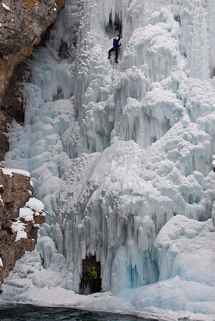 Frozen Upper Falls in Johnston Canyon, Banff NP, Canada