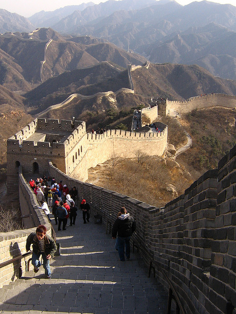 The Great Wall at Badaling, north of Beijing, China