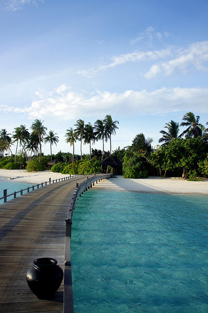 Iru Fushi Resort lagoon on the Noonu Atoll, Maldives