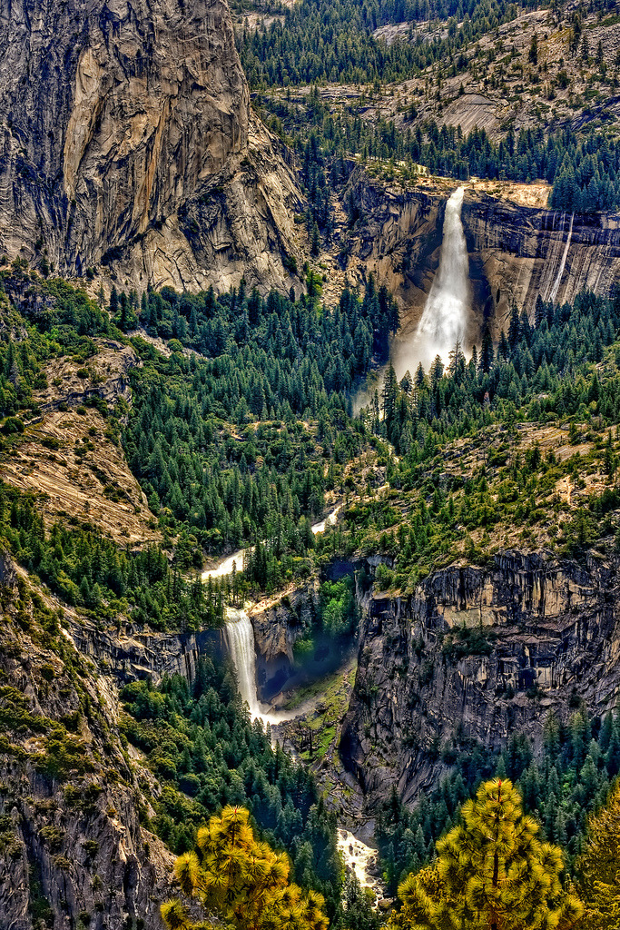 Nevada and Vernal Falls, Yosemite National Park