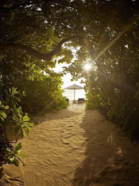 The way to the beach, Park Hyatt, Maldives